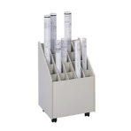 Safco® Mobile Roll File 20 Slots