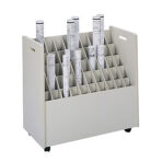 Safco® Mobile Roll File 50 Slots