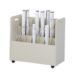 Safco® Mobile Roll File 21 Slots
